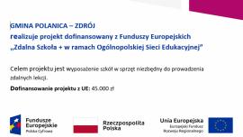 Zdalna Szkoła + w ramach Ogólnopolskiej Sieci Edukacyjnej Kliknięcie w obrazek spowoduje wyświetlenie jego powiększenia