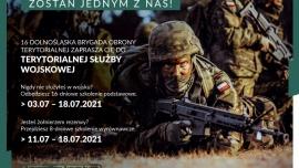 """W dniach 3-18 lipca 2021 r. 16 Dolnośląska Brygada Obrony Terytorialnej realizować będzie projekt """"WAKACJE z WOT"""" Kliknięcie w obrazek spowoduje wyświetlenie jego powiększenia"""